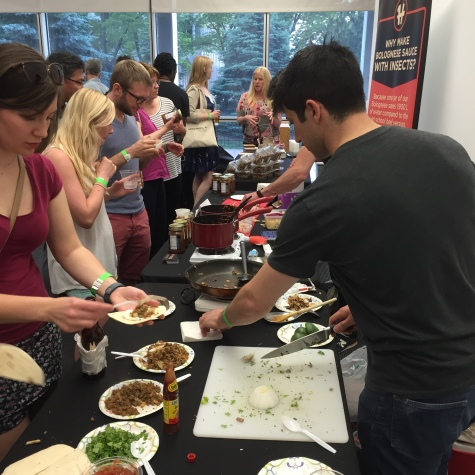 One Hop Kitchen demos at Eat Insects Detriot